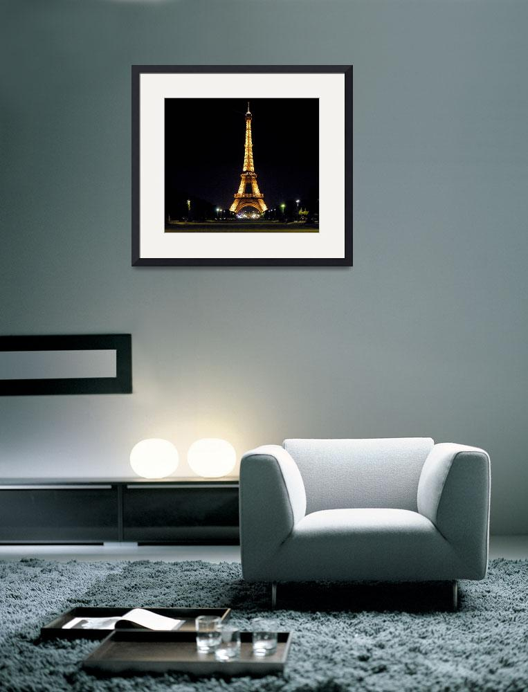 """The Eiffel Tower at Night&quot  (2009) by leicafan"