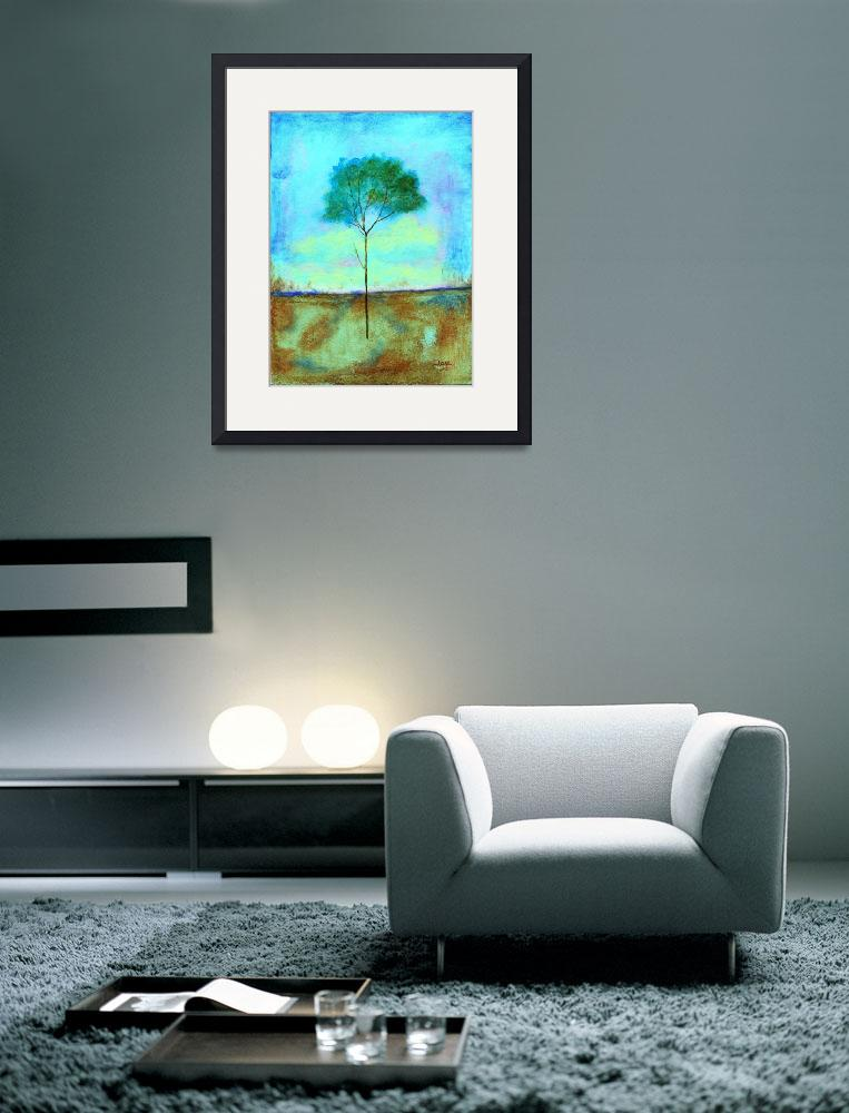 """Individual Lone Skinny Tree Abstract Landscape Art&quot  (2009) by Itaya"
