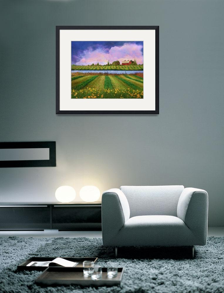 """idyllic farm fields and meadows&quot  (2014) by rchristophervest"