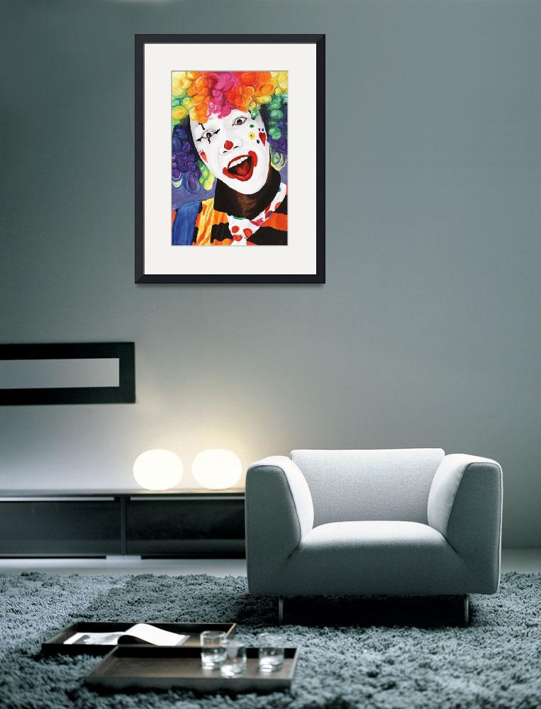 """Rainbow Clown&quot  (2009) by psovart"