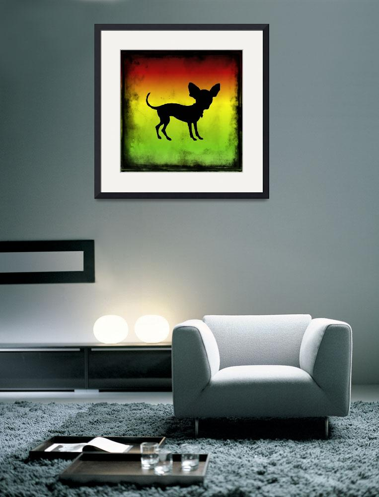 """The Mexican Chihuahua Silhouette&quot  (2013) by SignaturePromos"