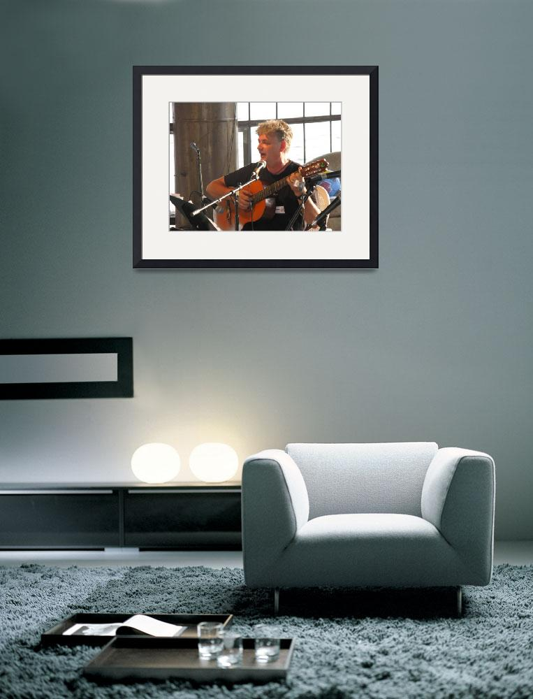 """Frank Craven on guitar Clearwater NYC&quot  (2008) by myshellazart"