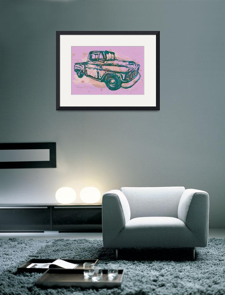 """Classical Car Stylized Pop Art Poster&quot  (2014) by visualharbour"