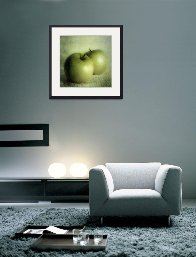 """apple painting&quot  by Piri"