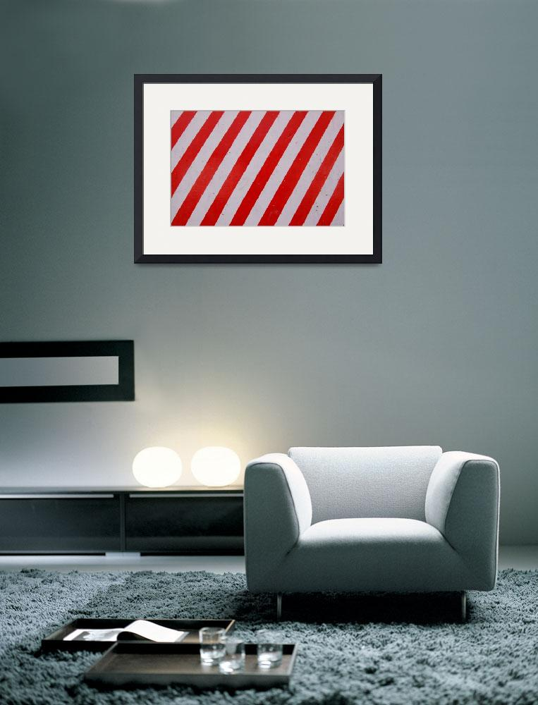 """Red Stripes&quot  (2008) by Linaka"