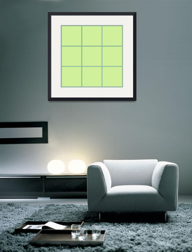 """Green Window 034 Canvas Contemporary Modern&quot  (2010) by Ricardos"