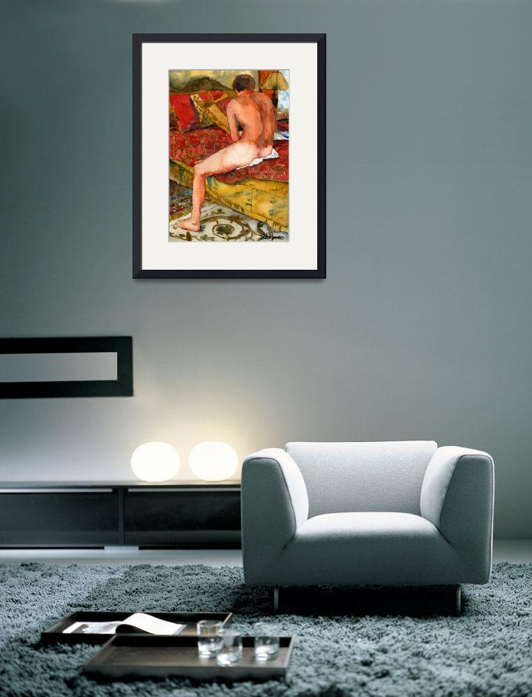"""Catching Up on a little reading..., Male Nude Art&quot  (2009) by schulmanart"