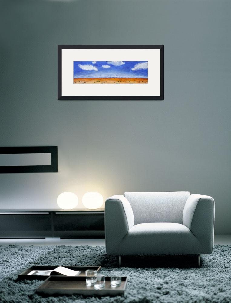 """HORIZON (Outback Australia)&quot  (2008) by RoseLangfordPrints"