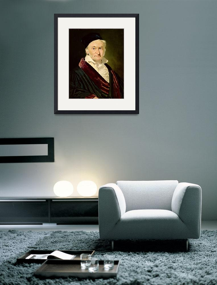 """Portrait of Carl Friedrich Gauss, 1840&quot  by fineartmasters"