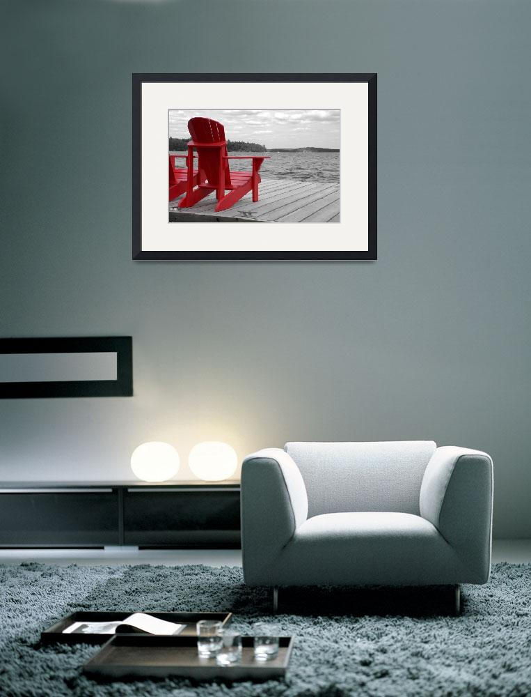 """Red Muskoka Chairs 3&quot  (2011) by Donshots"