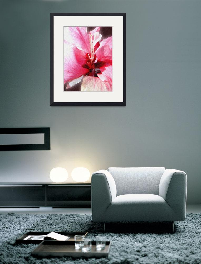 """Pink Bunches Hibiscus&quot  (2010) by paulyworksfineart"
