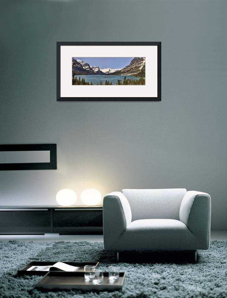 """St Mary Lake Panorama&quot  (2011) by PaulCoco"