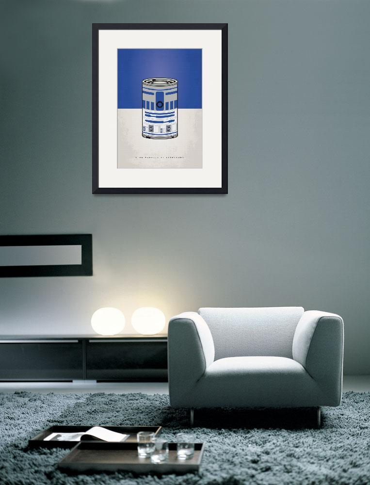 """MY STAR WARHOLS R2D2 MINIMAL CAN POSTER&quot  by Chungkong"