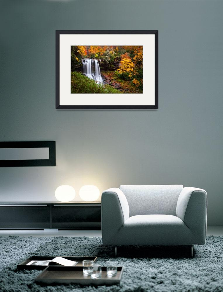 """Autumn at Dry Falls - Highlands NC Waterfalls&quot  (2011) by DAPhoto"