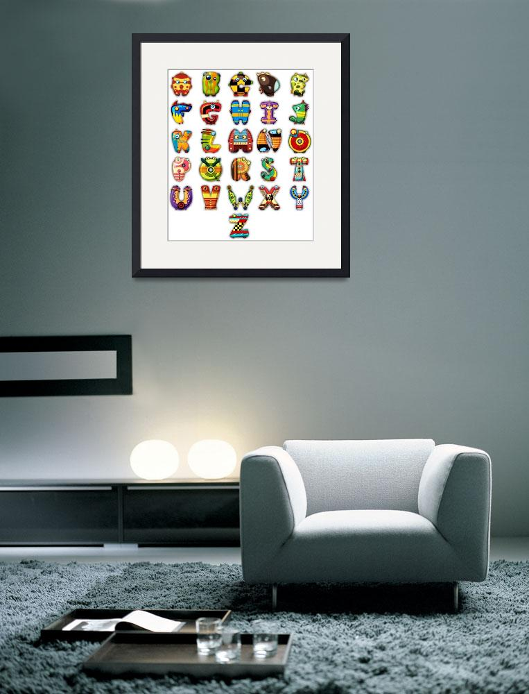 """Super Alphabet Poster (No background)&quot  (2011) by MikeCressy"