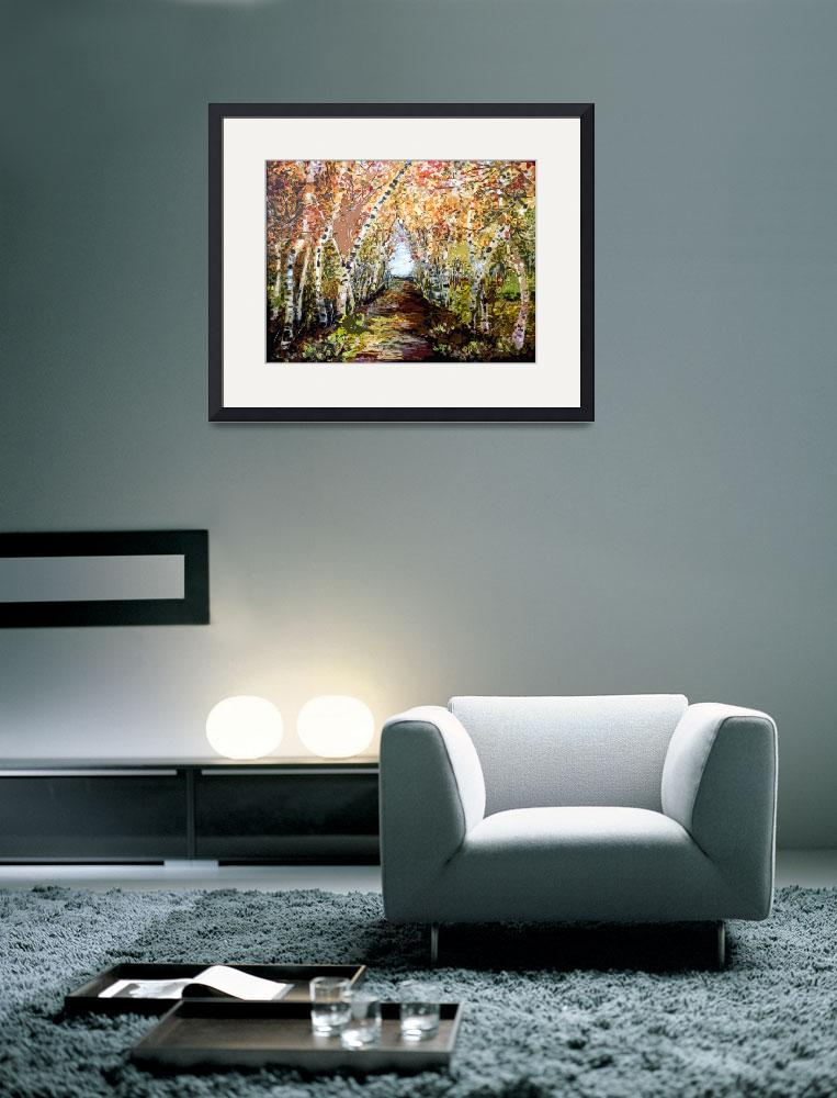 """Birch Trees Landscape OrigiDigi by Ginette&quot  (2013) by GinetteCallaway"