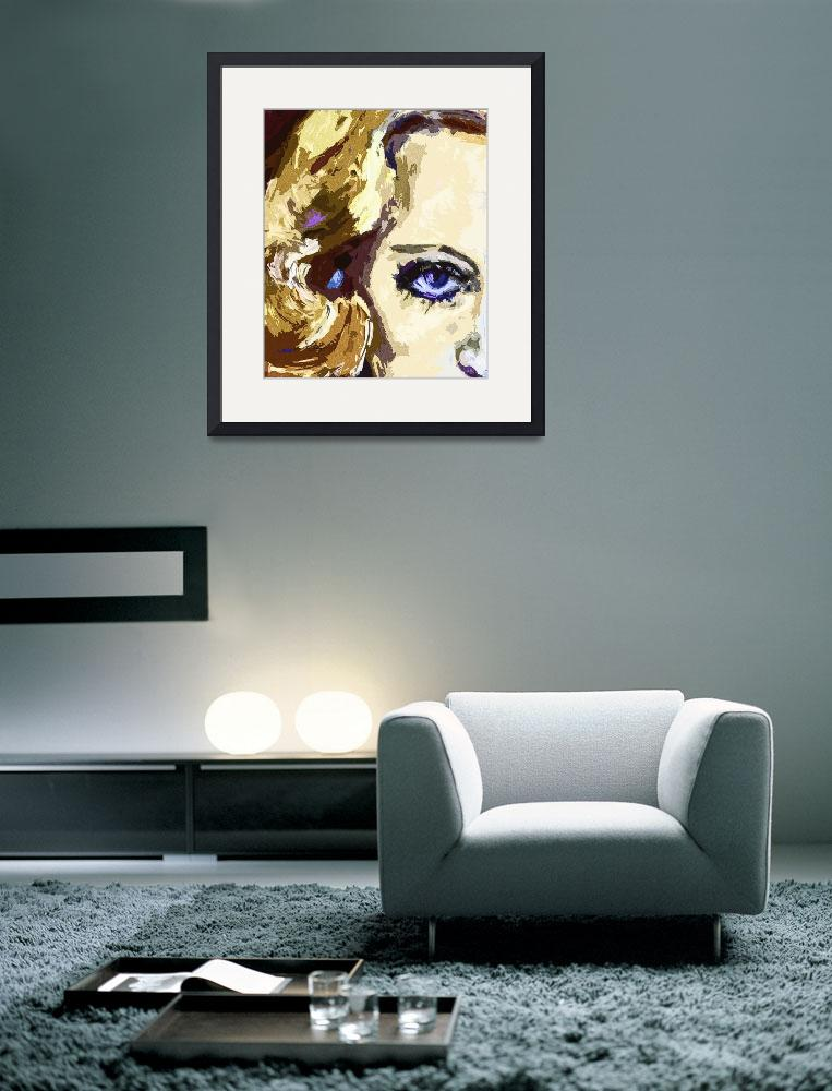 """Carol Lombard Blue Eyes Modern Art&quot  (2013) by GinetteCallaway"