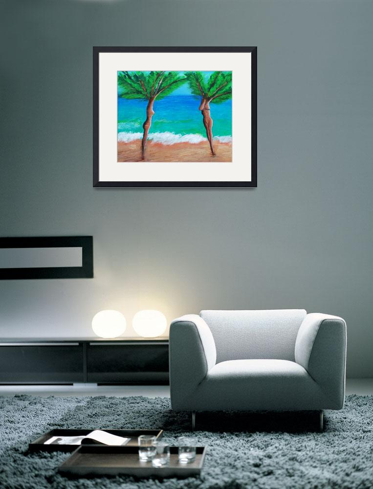 """Bare Palm Trees&quot  (2009) by dianedaversa"