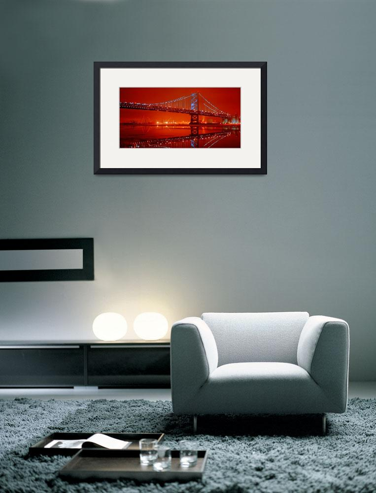 """Ben Franklin Bridge&quot  (2004) by AFSmith"
