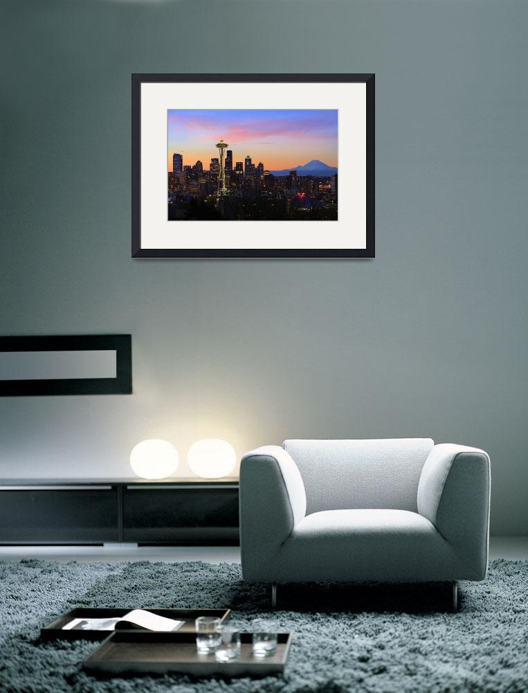 """Seattle Dawn&quot  (2010) by Inge-Johnsson"