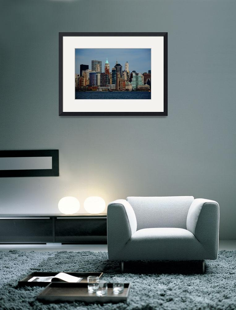 """New York City Skyline&quot  (2009) by Ffooter"