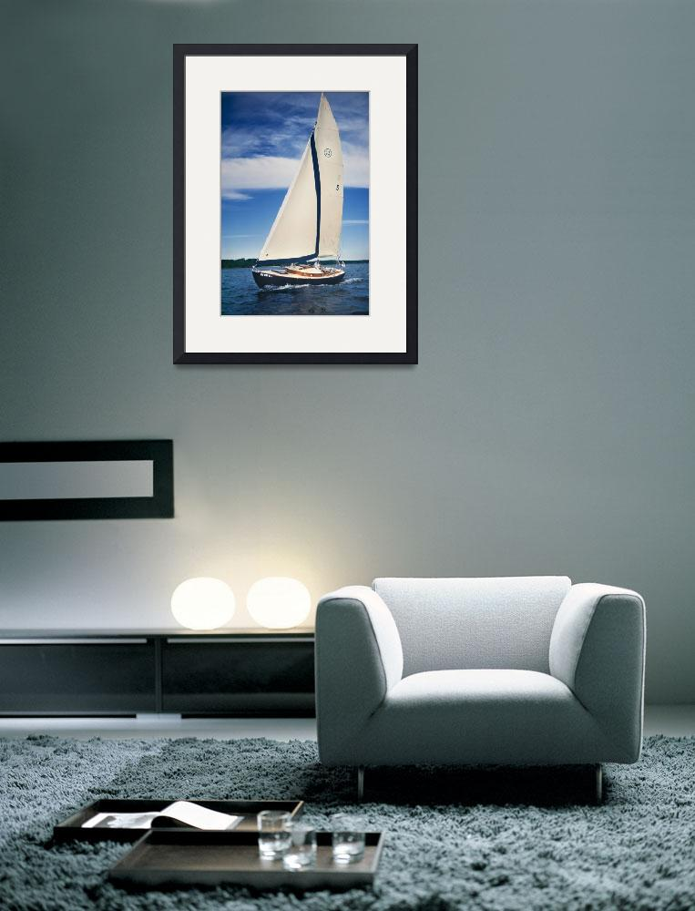 """Sailboat_27w_40t&quot  (2015) by Morganhowarth"