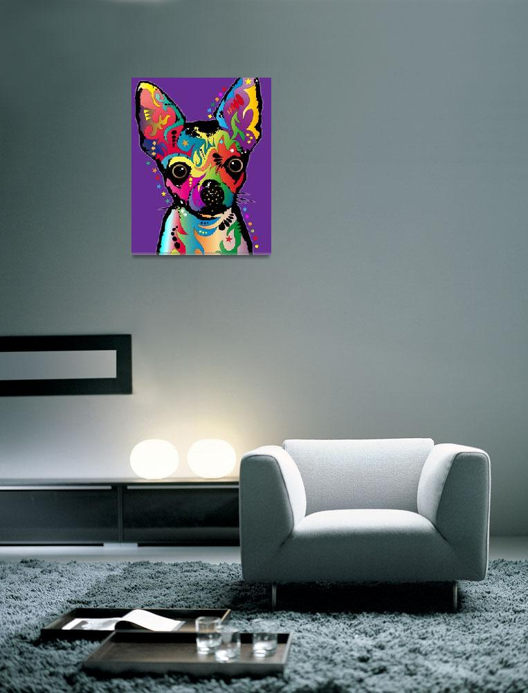 """Chihuahua Art&quot  (2011) by ModernArtPrints"