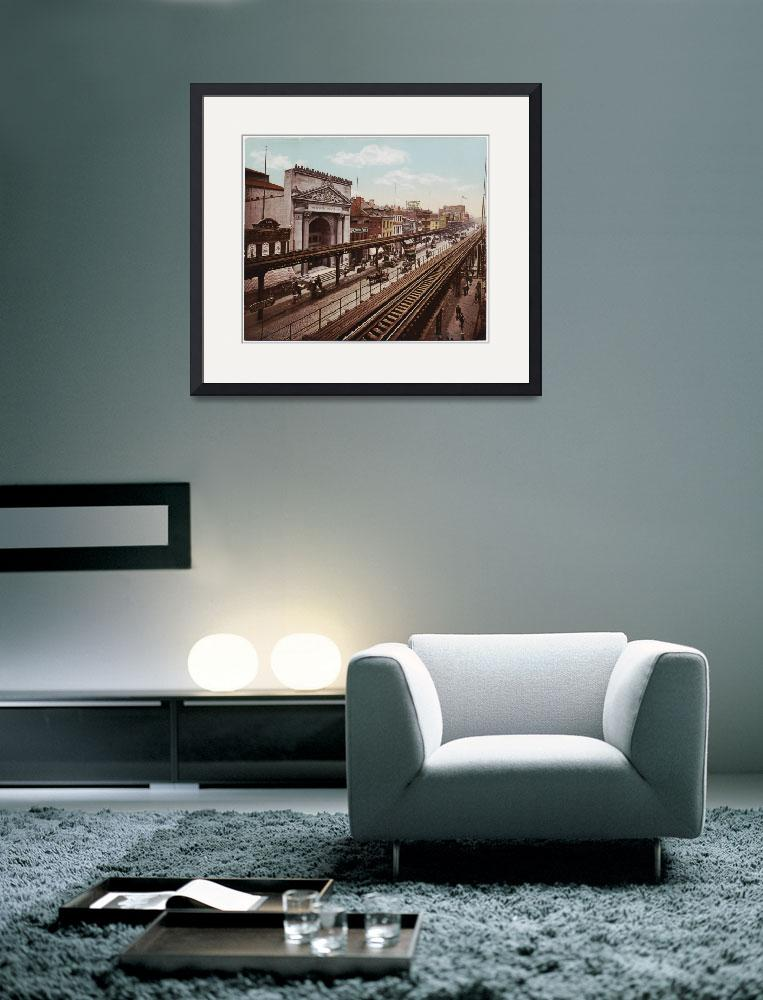 """The Bowery New York City Photo-Print (1898)&quot  by Alleycatshirts"