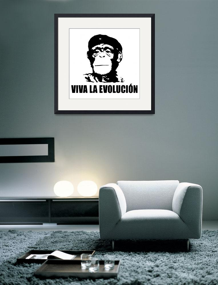 """Darwin Inspired Viva La Evolucion Che Guevara Styl&quot  (2008) by paint"