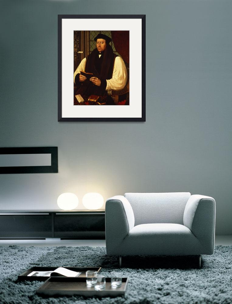 """Portrait of Thomas Cranmer&quot  by fineartmasters"