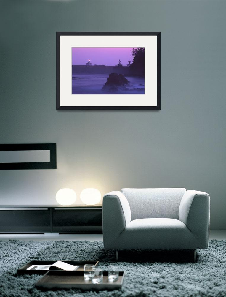 """Cape Arago Lighthouse At Dawn&quot  (2002) by John-foster"