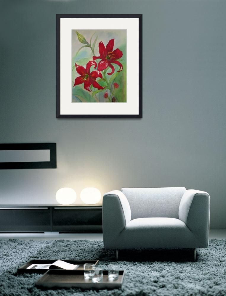 """Brilliant Red Flowers&quot  (2006) by kerralindsey"