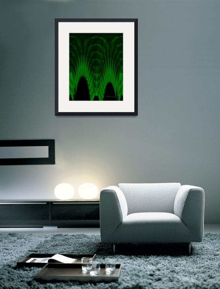 """Green Abstract - Digital&quot  (2010) by jupiterqueen"