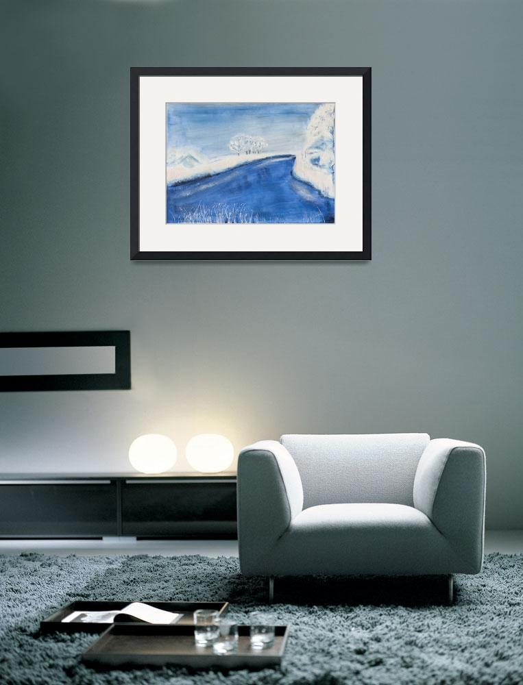 """Landscape in winter&quot  (2008) by kunst-grafik"