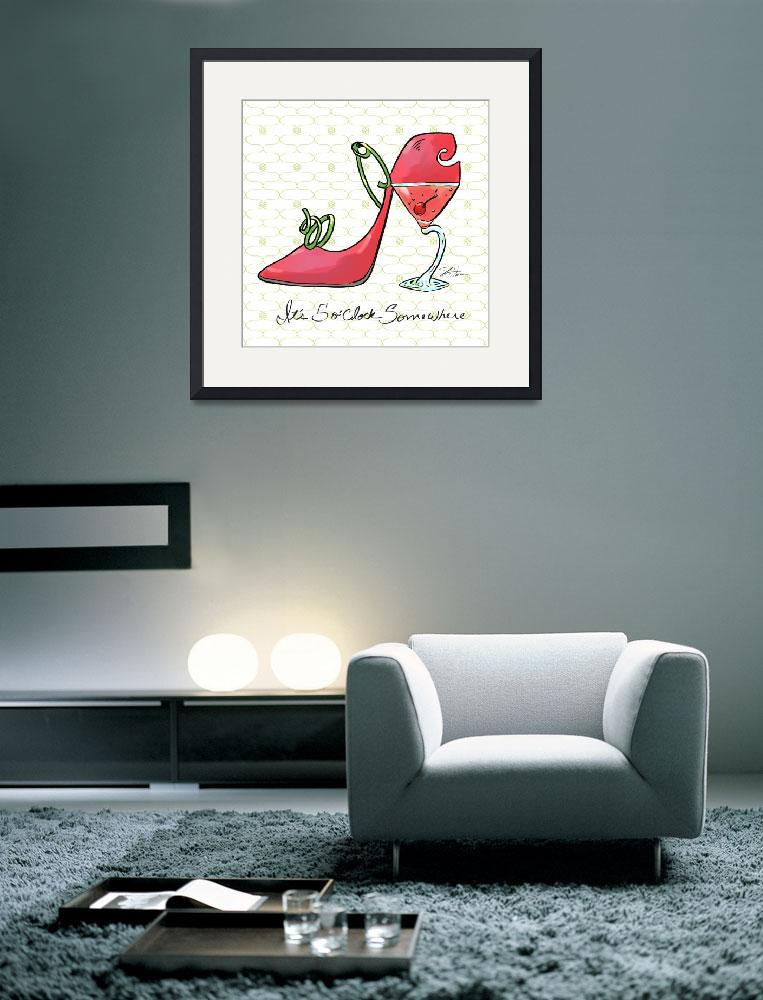"""Cocktail Shoes Cosmopolitan&quot  (2011) by shariwarren"