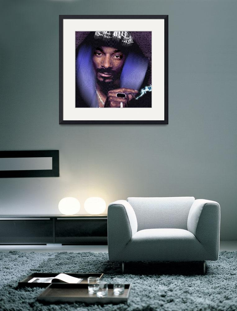 """Snoop and Lyrics&quot  (2013) by RubinoFineArt"