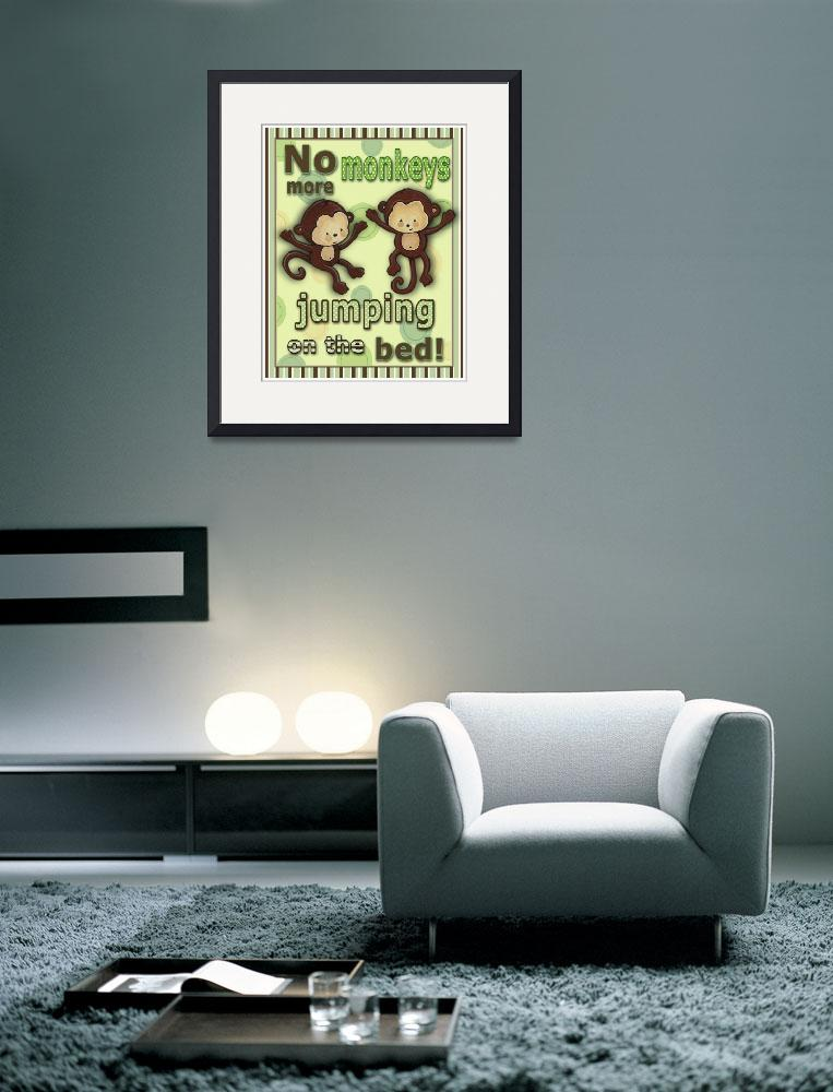"""No More Monkeys (in green)&quot  (2009) by Littlepig"