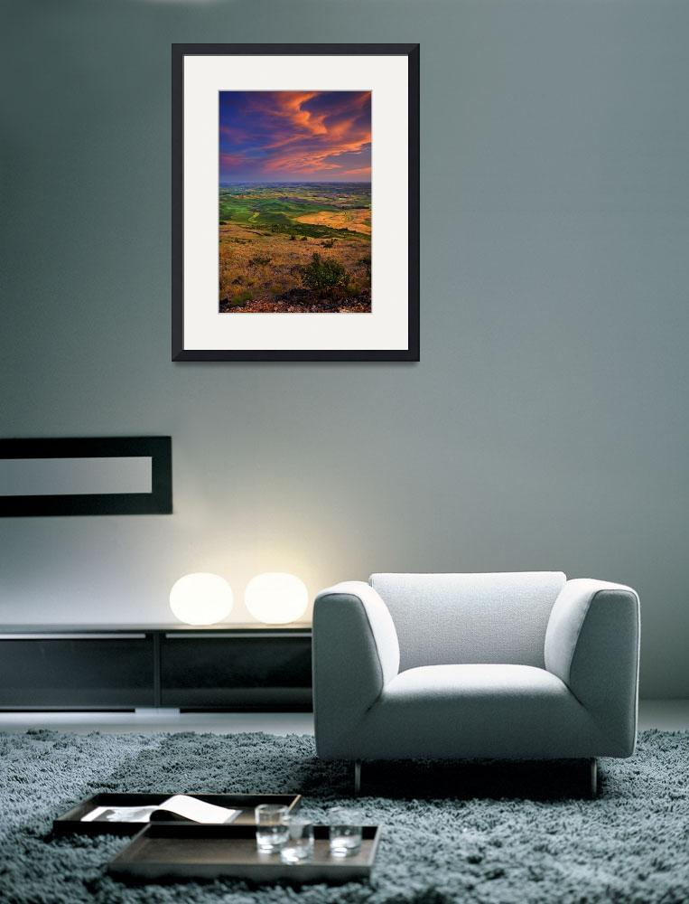 """Palouse Skies Ablaze&quot  (2009) by Dawsonimages"