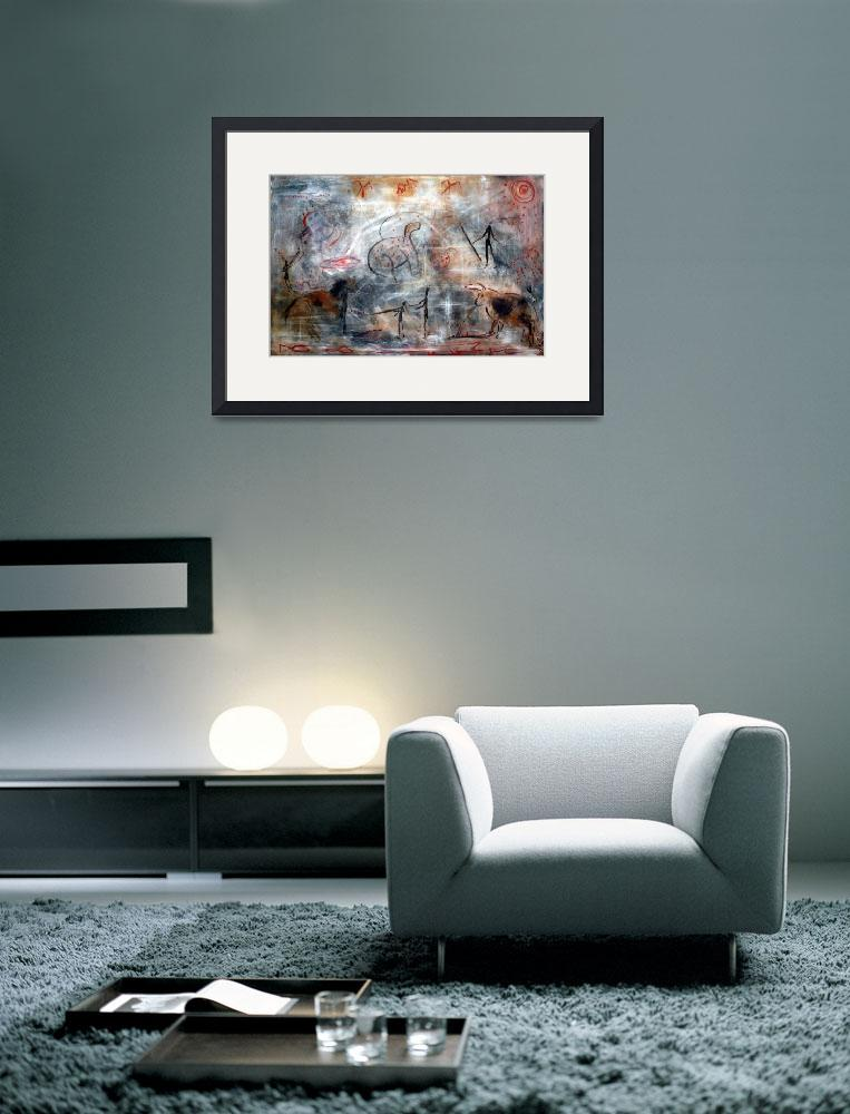 """Contemporary Cave Painting&quot  (2009) by ArtPrints"