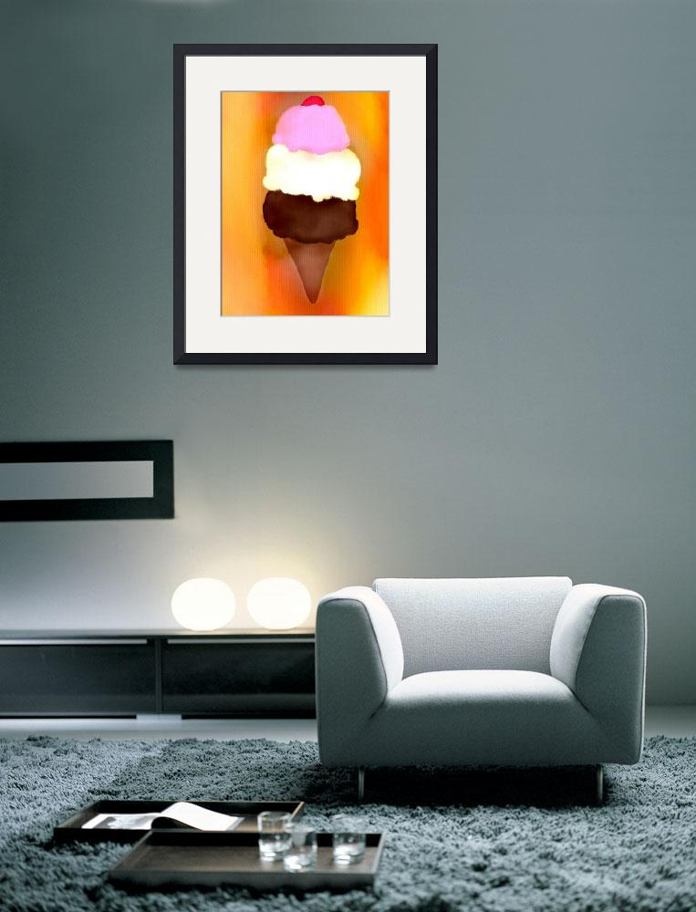 """Ice Cream Cone&quot  (2012) by Tanya_Dawn_Art"