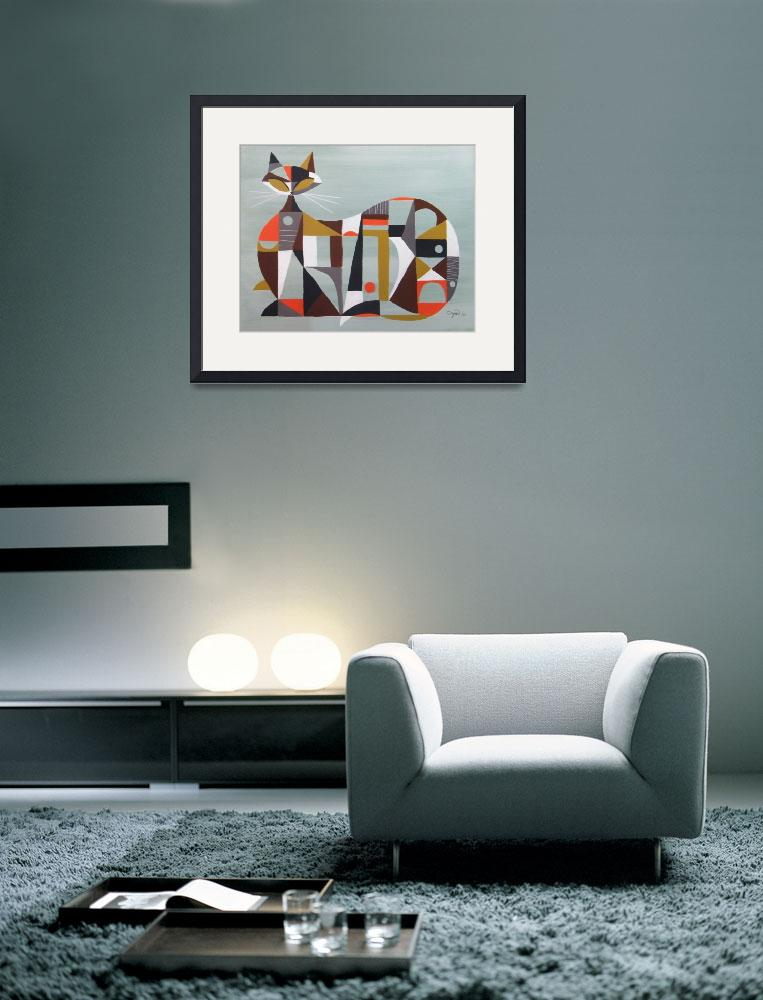 """Cubist Cat&quot  (2010) by CZMART"