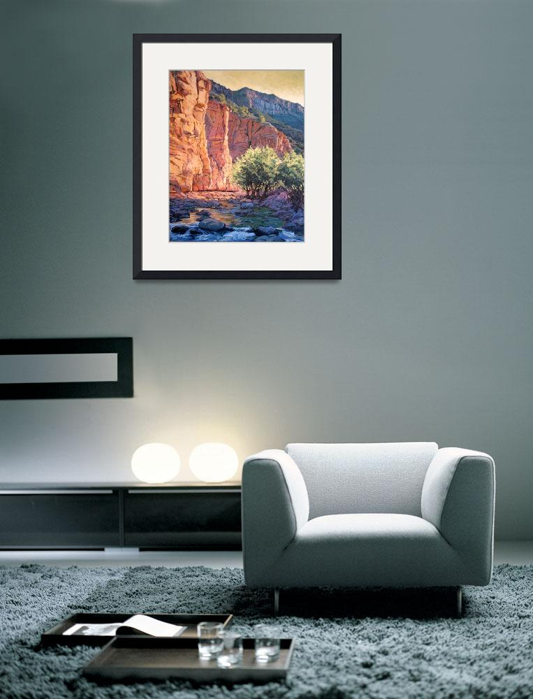 """Sedona West Fork&quot  (2004) by RICKKERSTEN"