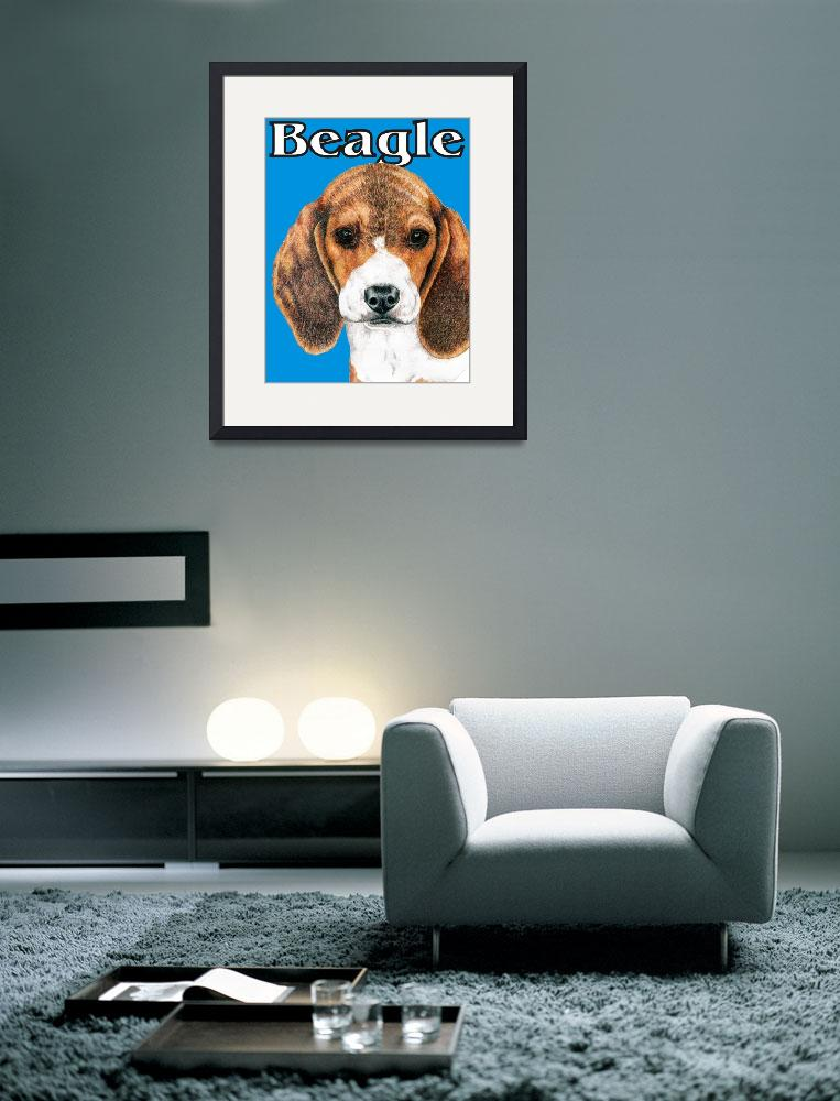"""Blue Pop Pup Beagle Puppy&quot  (2009) by KathleenSepulveda"