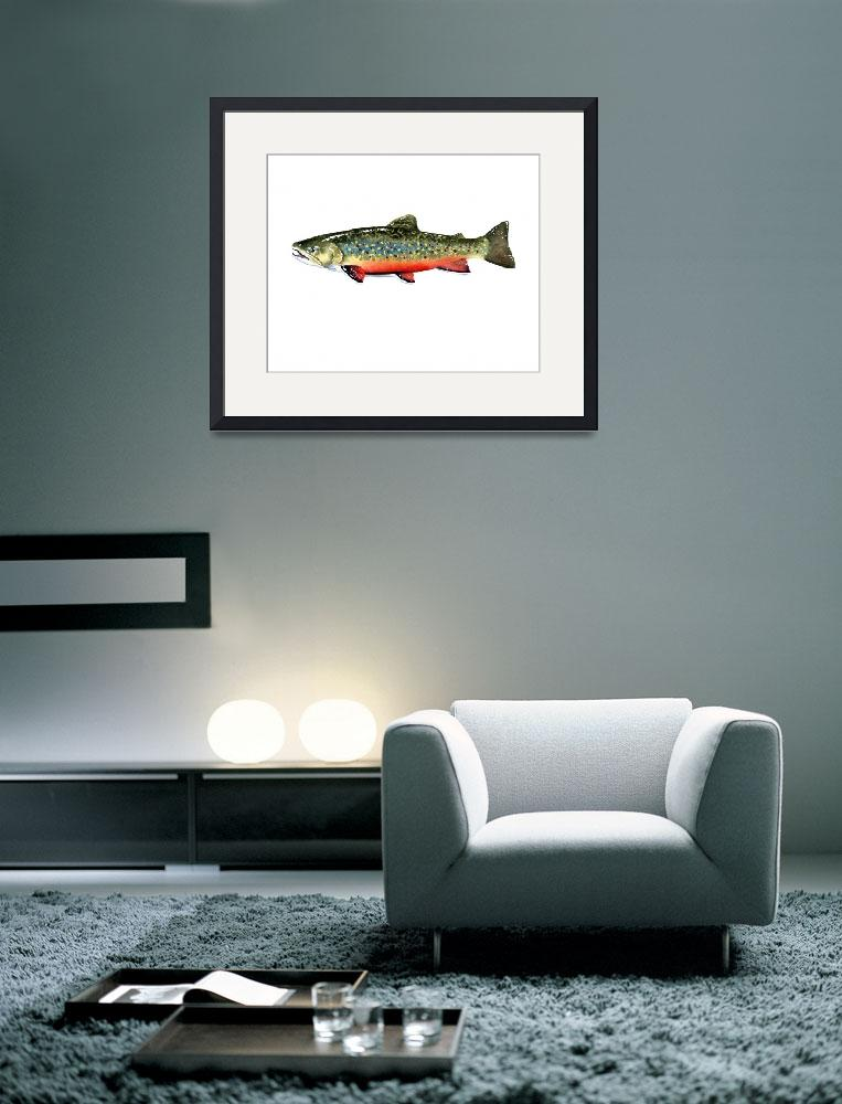 """Brook Trout 2&quot  (2015) by k9artgallery"