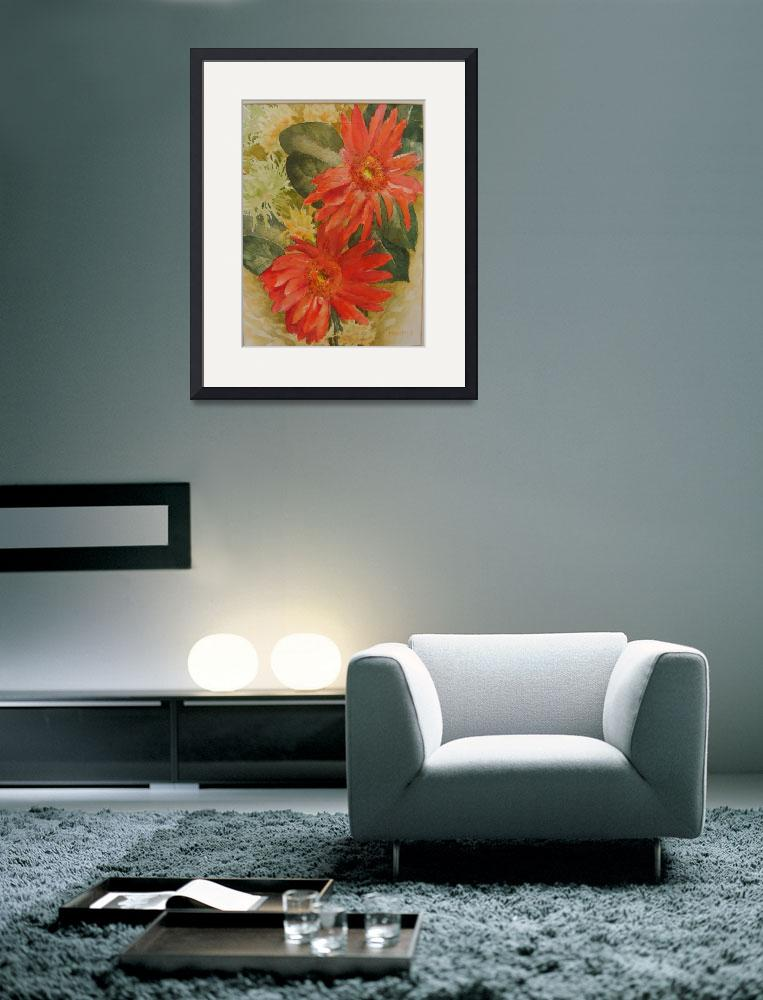 """Red gerberas&quot  (2011) by MarijaJ"