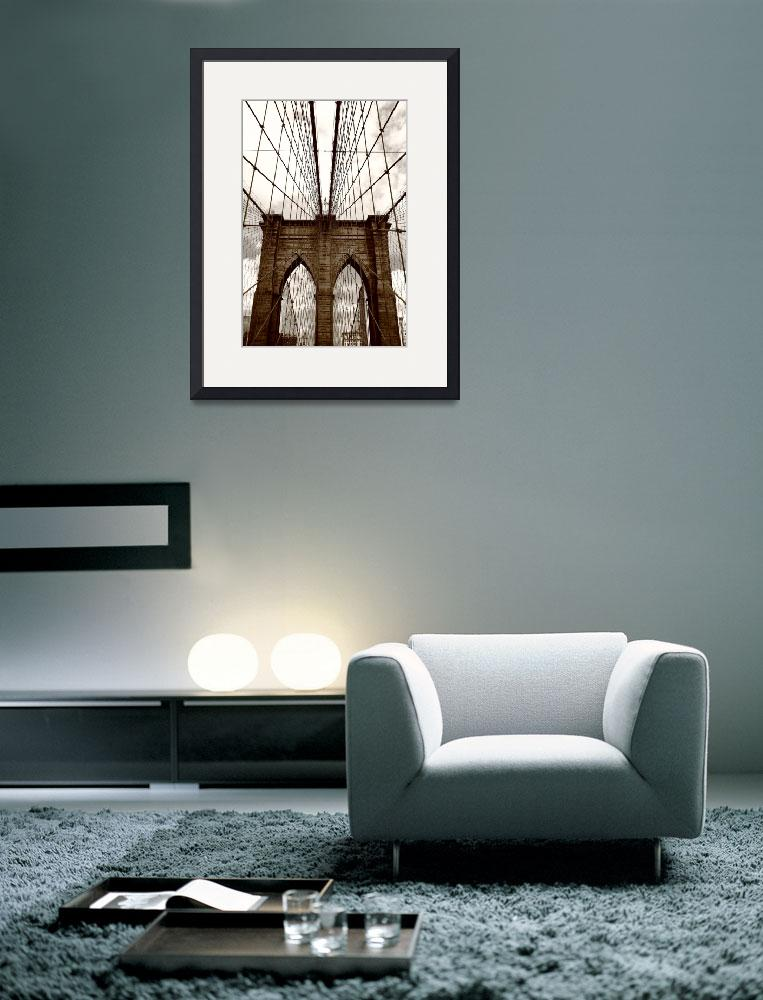 """Brooklyn Bridge - New York City&quot  (2009) by Ffooter"