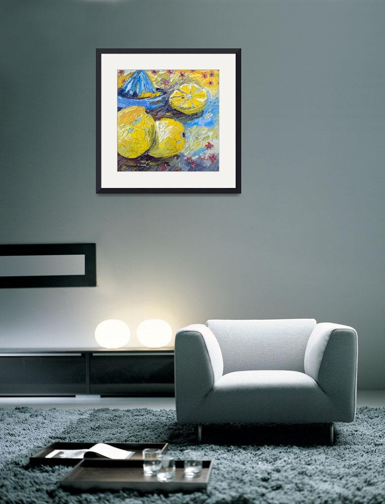 """Lemons Impressionist Oil Still Life&quot  (2012) by GinetteCallaway"
