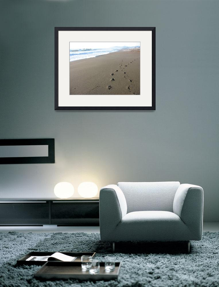 """Footprints on Beach&quot  (2007) by luv4pix"
