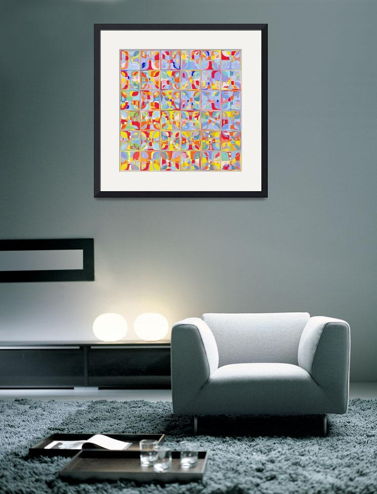 """Summer Pastel Tiles. Modern Mosaic Tile Art Painti&quot  (2014) by MarkLawrence"