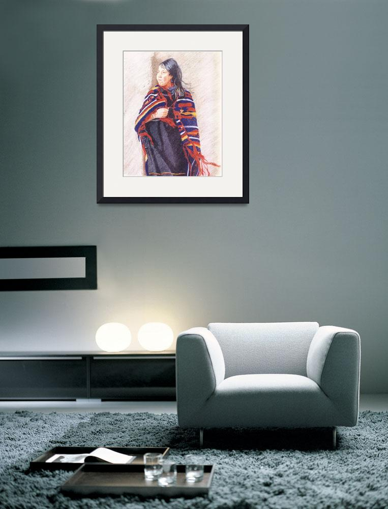 """Navajo Girl&quot  (2000) by oneartiststudio"